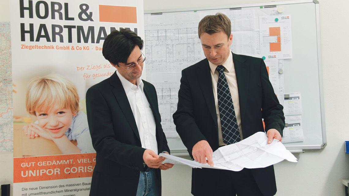 Hörl und Hartmann Ziegelberatung Vor-Ort-Service