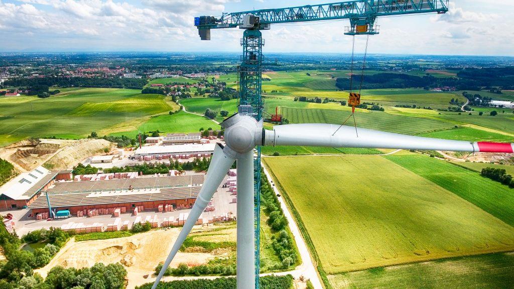 Bau Windkraftanlage