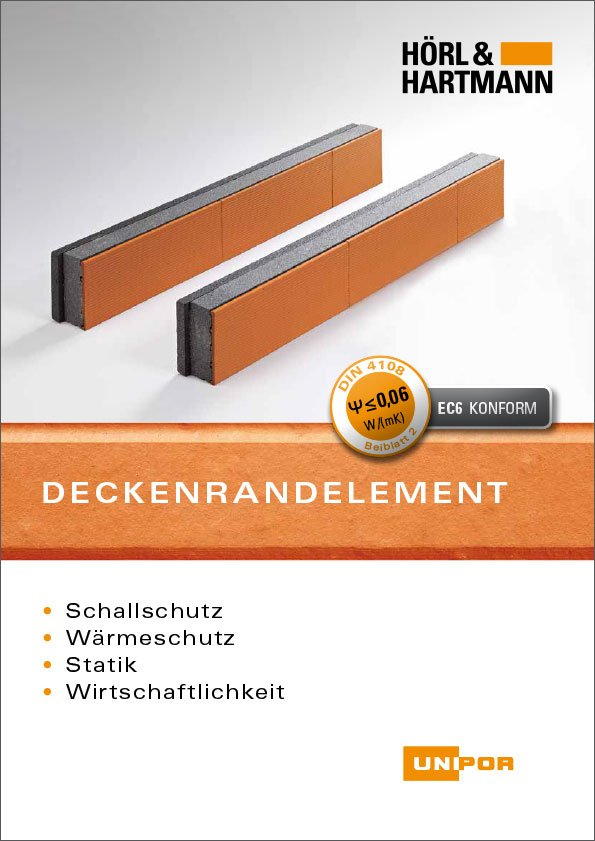 Hörl & Hartmann Deckenrandelement Broschüre