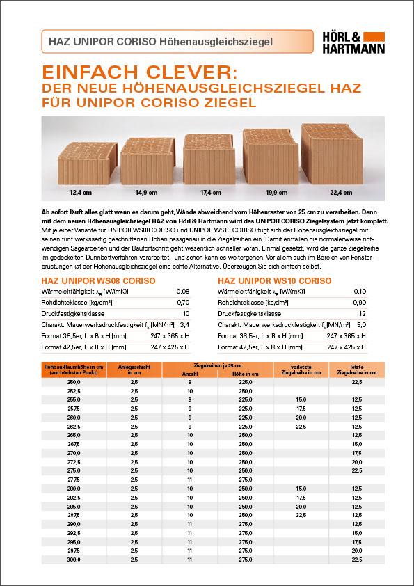 Hoerl und Hartmann Download UNIPOR CORISO