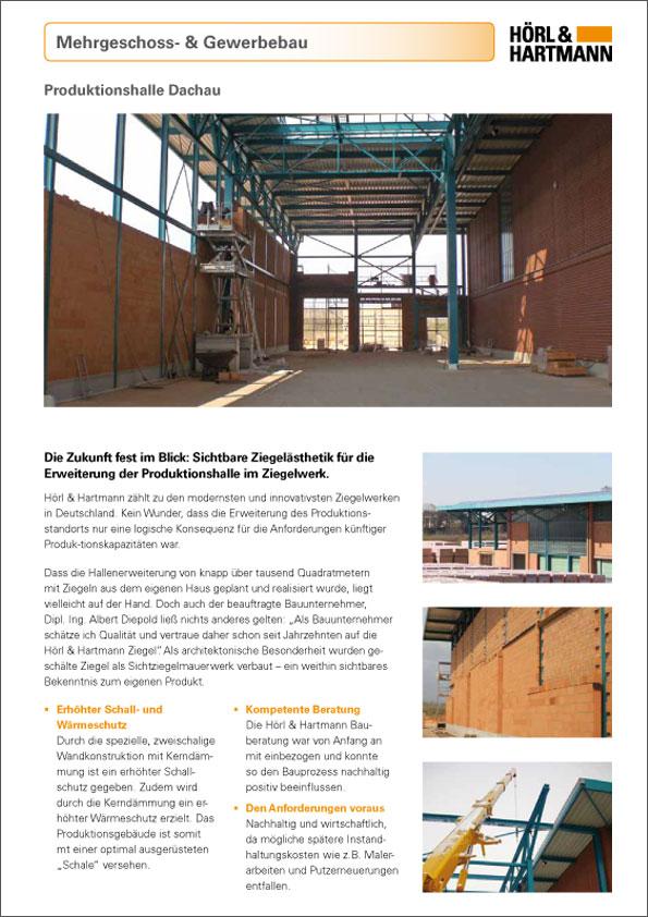 Hörl & Hartmann Objektbericht Produktionshalle Dachau