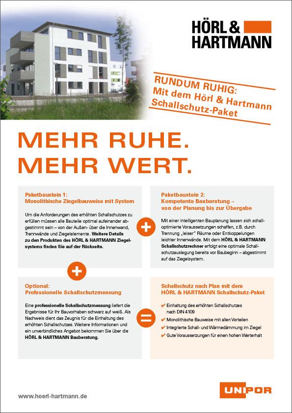 Hörl & Hartmann Schallschutzpaket Broschüre