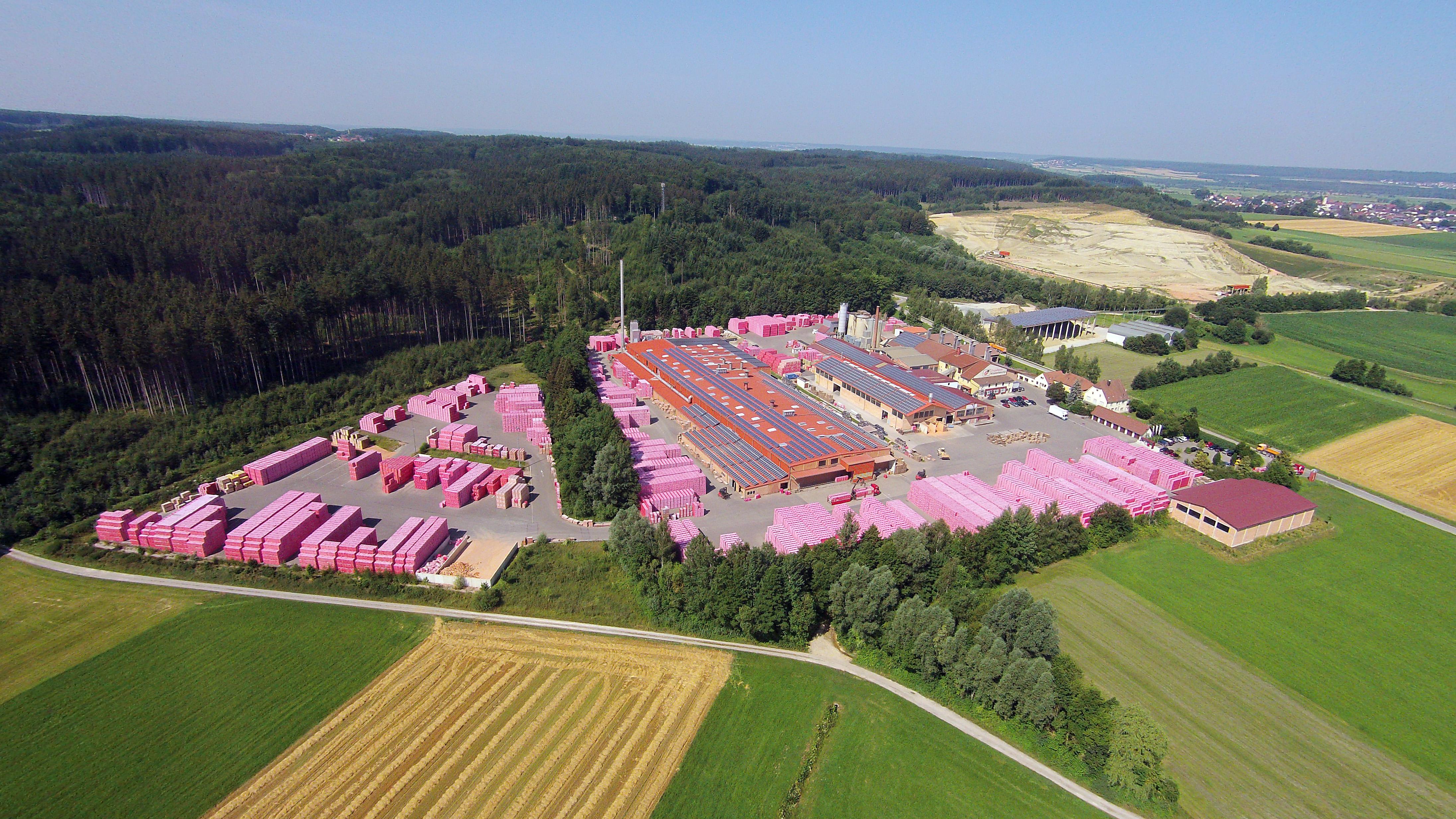Ziegelwerk Klosterbeuren - Luftaufnahme