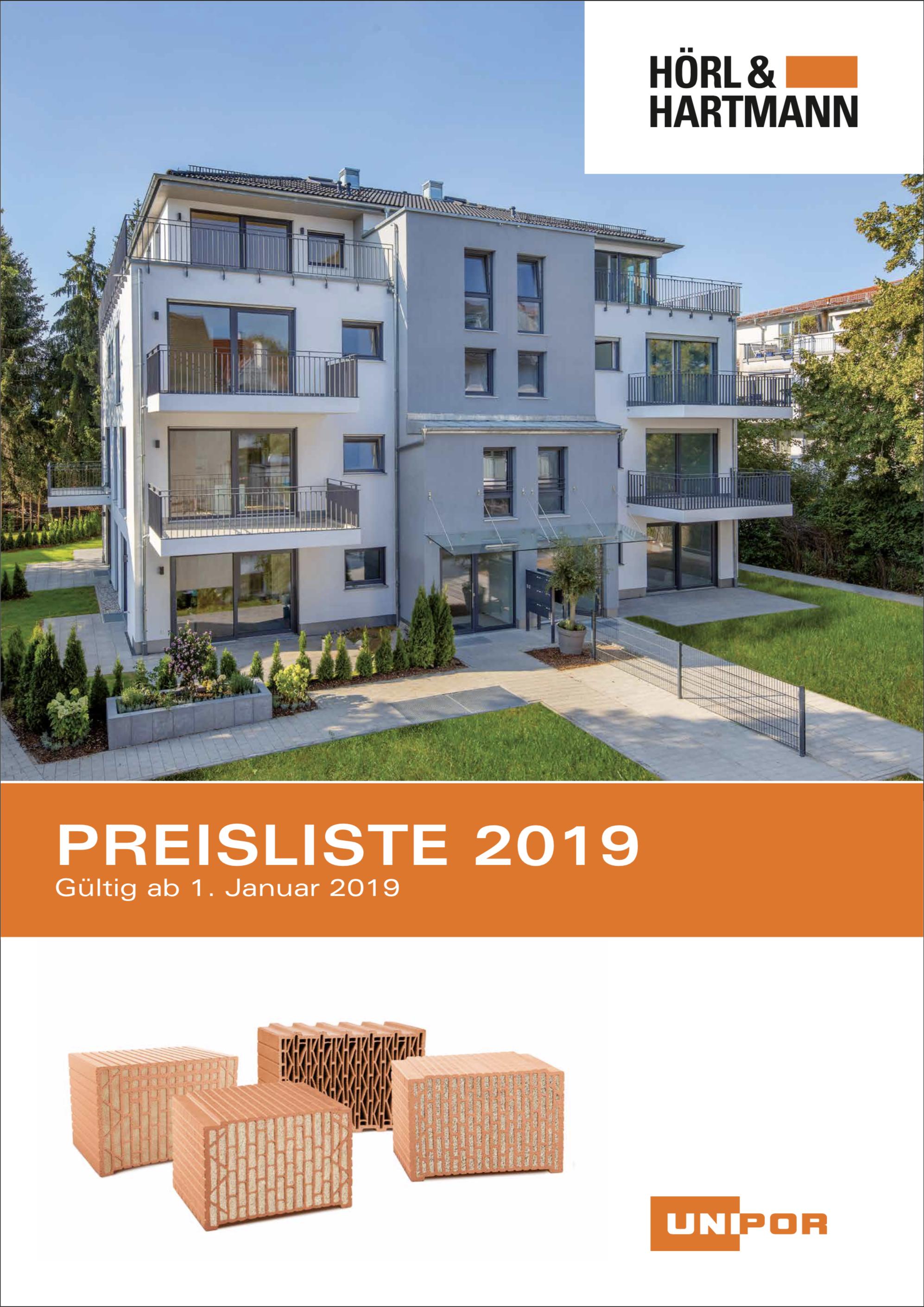 Hoerl und Hartmann Download Preisliste 2019