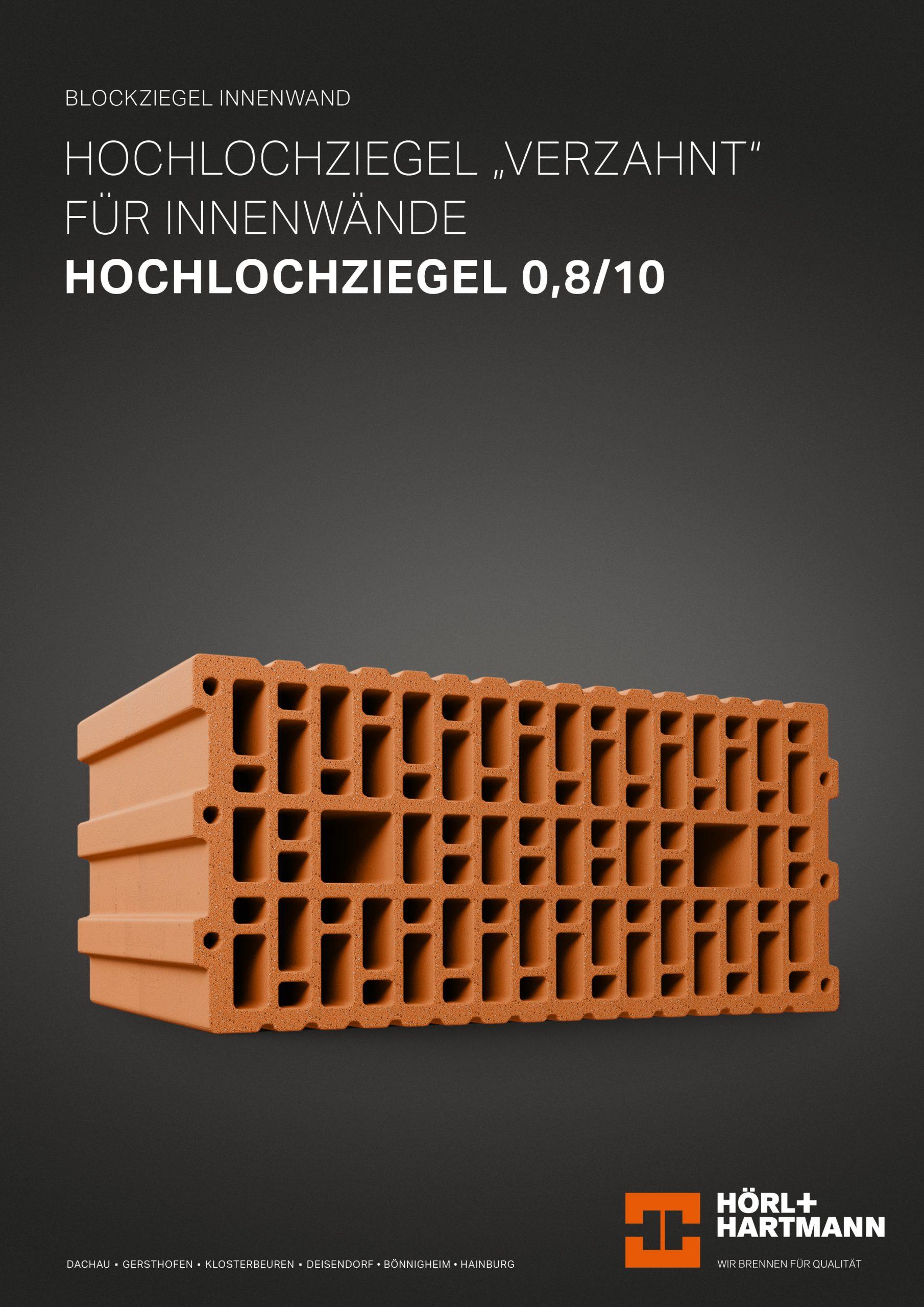Datenblatt Hochlochziegel 0,8/10