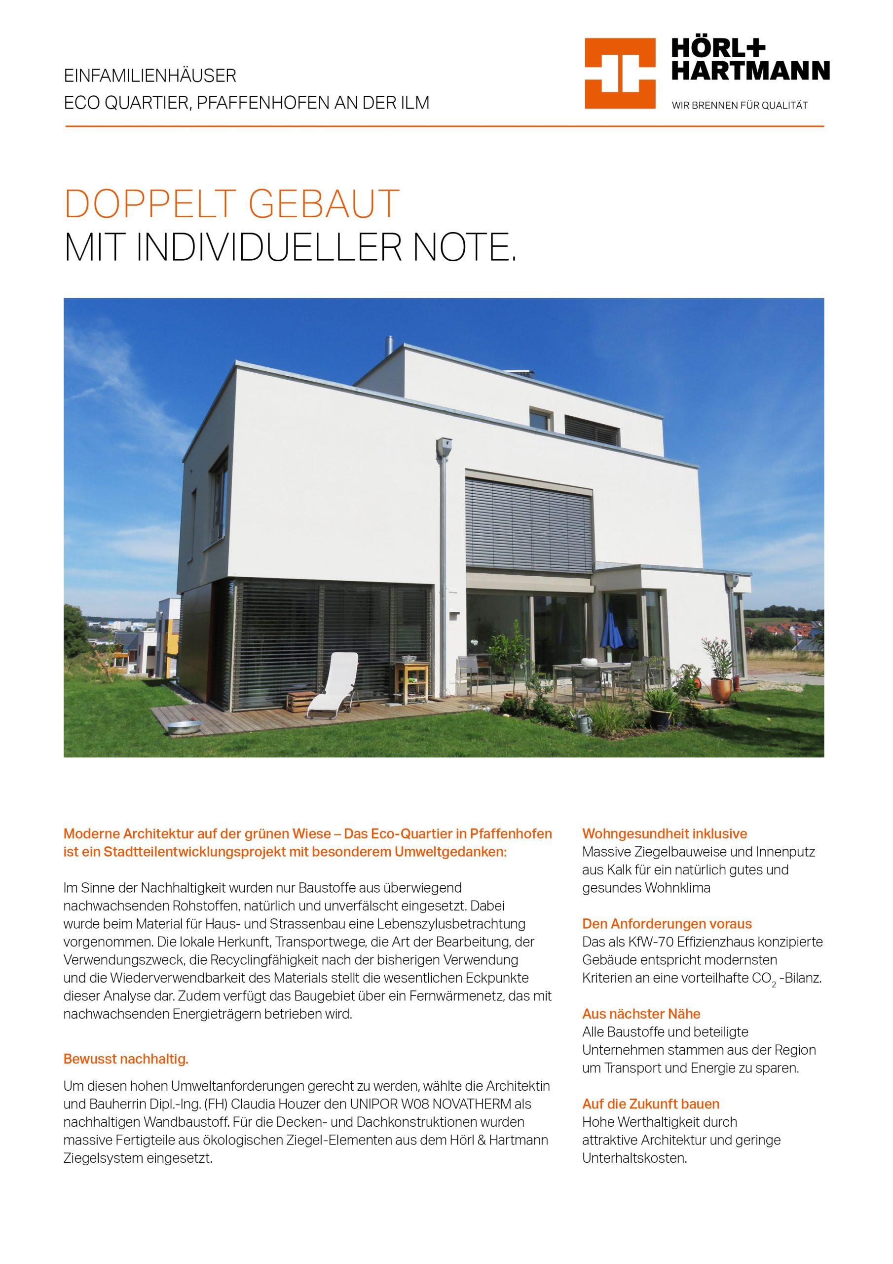 Hörl & Hartmann Objektbericht ECO Quartier Pfaffenhofen
