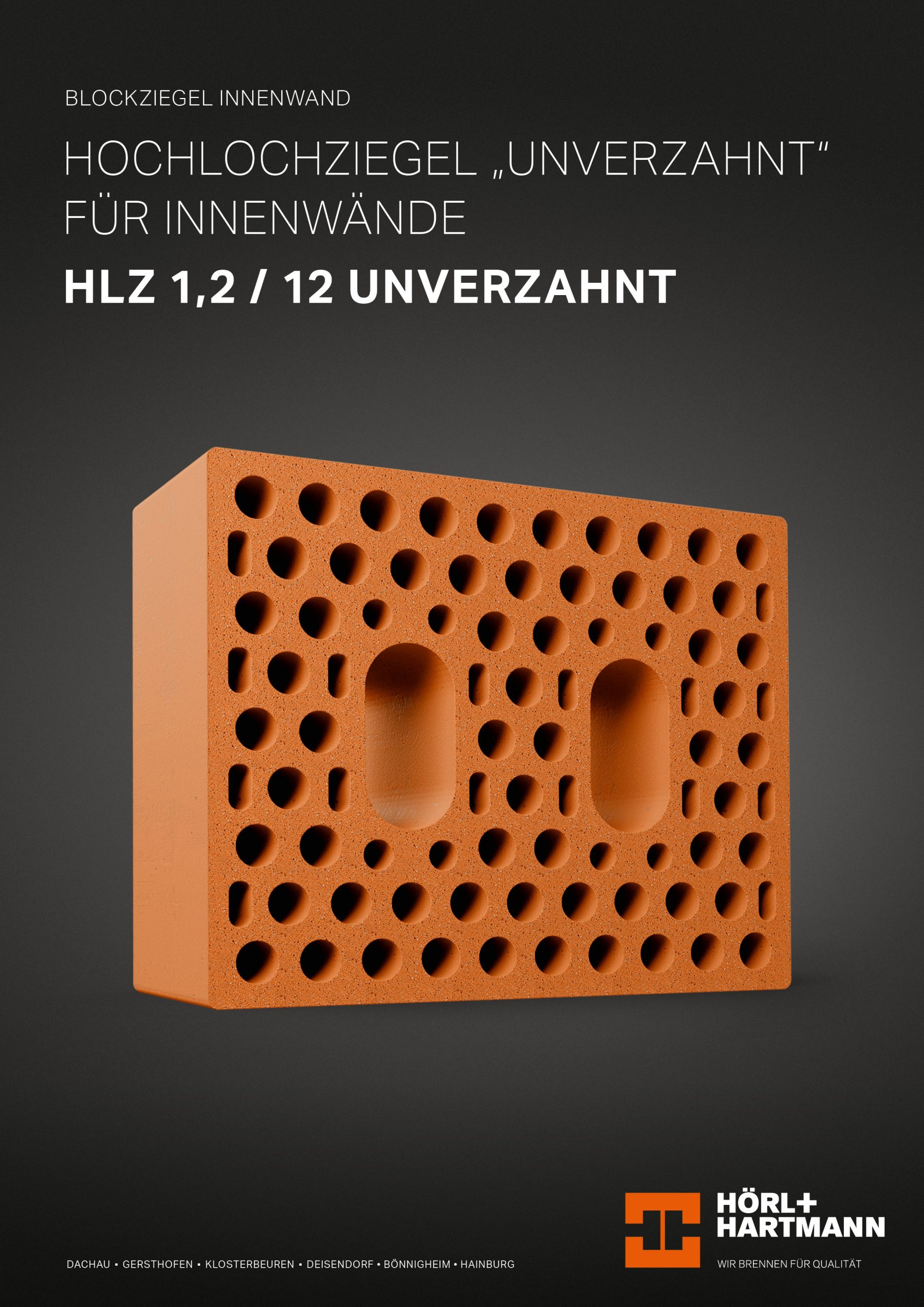 "Datenblatt Hochlochziegel ""unverzahnt"" 1,2/12"